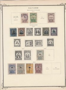 salvador stamps page ref 17172