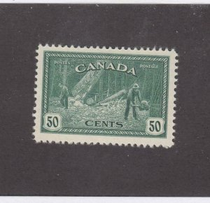 CANADA (MK3712) # 272 VF-MLH 50cts 1946 BC LOGGING /DARK BLUE GREEN CAT VAL $25