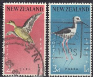NEW ZEALAND SC# B57-58  BIRDS  SEE SCAN