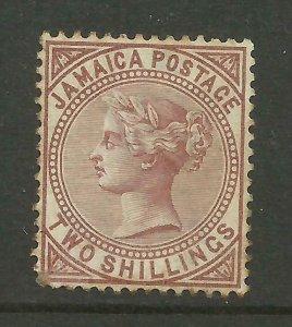 JAMAICA 1883/97 Sg 25, 2/- Venetian Red, Average Mounted Mint. {B9-66}