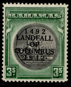 BAHAMAS GVI SG173a, 3s brownish black & green, M MINT. Cat £55.