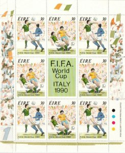 1990   IRELAND  -  SG: 770/71  - WORLD CUP,ITALY - SHEETLET  - UNMOUNTED MINT