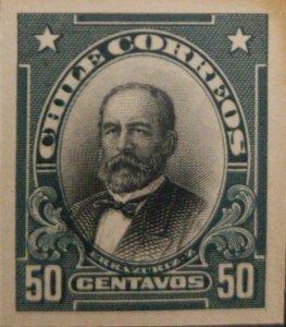 J) 1910 CHILE, FEDERICO ERRAZURIZ ZANARTU, AMERICAN BANK NOTE, DIE PROOF, IMPERF