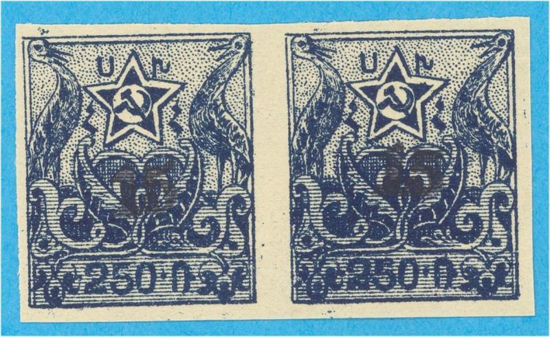 ARMENIA 354 IMPERF PAIR  MINT NEVER HINGED OG ** NO FAULTS  VERY FINE! - B
