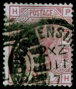 SG141, 2½d rosy mauve, USED. Cat £85. PH