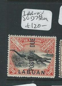 LABUAN (P2307B) 12C CROCODILE POSTAGE DUE SGD7B  MOG