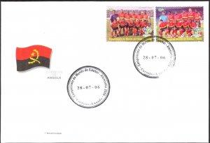 Angola 2006 Football Soccer Germany 2006 set of 2 FDC