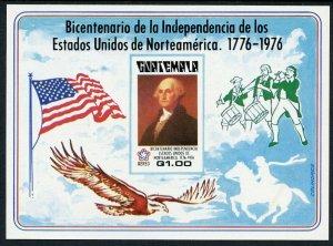 Guatemala Scott C606a VF MNH Souvenir Sheet Picturing George Washington