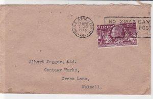 Ireland Eire 1948 Baile Atha Cliath No Xmas Day Post Slogan Stamp Cover Rf 34950
