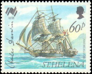 St. Helena #493-496, Complete Set(4), 1988, Ships, Never Hinged