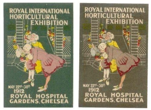 Great Britain 1912 Horticultural Expo Poster Stamps
