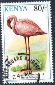 Kenya Scott #609  80sh Lesser Flamingo (1993) used