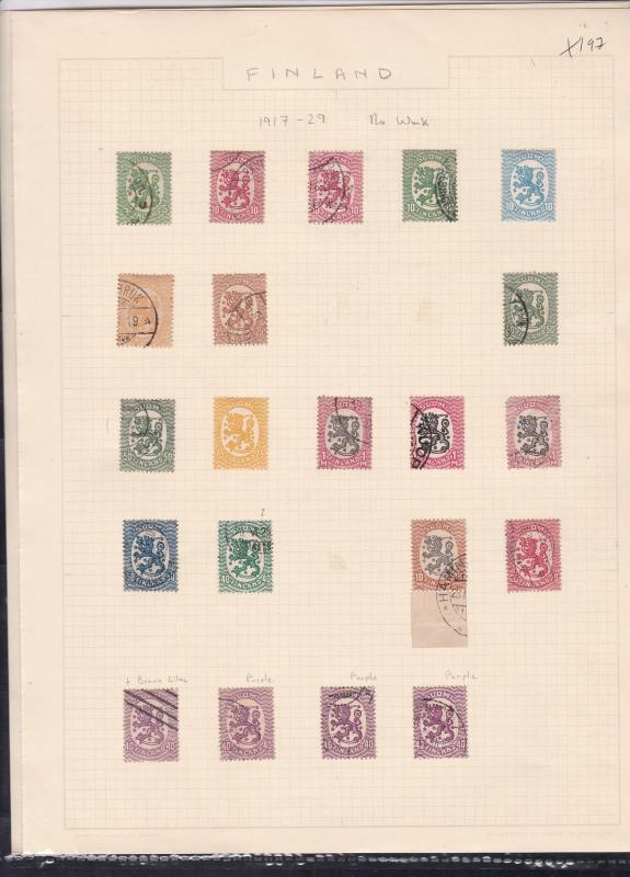 finland 1917-29  stamps page ref 18047