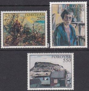 Faroe Islands Sc #127-129 MNH