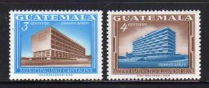 Guatemala C279-C280 Set MNH City Hall, Social Security (A)