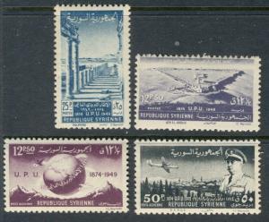 SYRIA - UPU:  1949 MNH Complete Set; Sc 349-350, C154-155