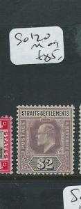 MALAYA STRAITS SETTLEMENTS (P0410B) KE $2.00  SG 120  MOG