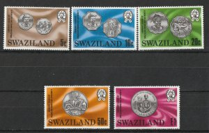 Swaziland MNH 333-7 Coins On Stamps 1979