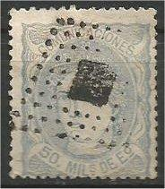 SPAIN, 1870, used 50m, Duke de la Torre. Scott 166a