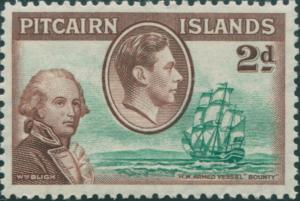 Pitcairn Islands 1940 SG4 2d Bligh and the Bounty MLH