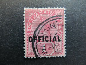 A4P21F25 Jamaica Official Stamp 1890-91 optd type II 1d Grade Very Fine used