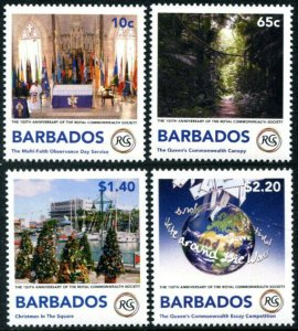 HERRICKSTAMP NEW ISSUES BARBADOS Sc.# 1308-11 Royal Commonwealth Society