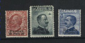 Italy-Durazzo #2-4   Mint LH/Used  1909-11 PD