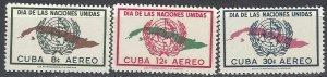 Cuba C169-71  MNH  United Nations Day 1957