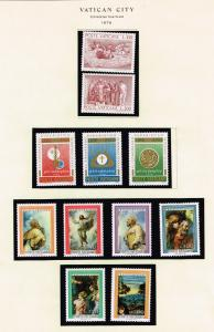 ITALY STAMP VATICAN MINT STAMP COLLECTION LOT #T7