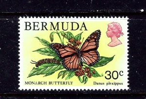 Bermuda 373 MNH 1979 Monarch Butterfly