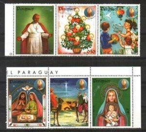 Paraguay MNH Set Of Christmas 1984
