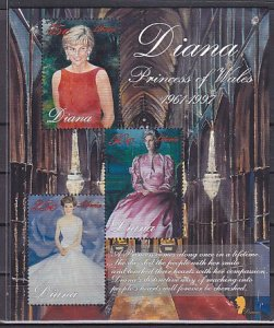 Liberia, 1998 issue. Princess of Wales s/sheet. ^