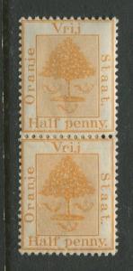Orange River Colony -Scott 2 - Orange Tree - 1868 - Mint - Vert.Pair 1/2p Stamp