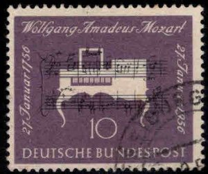 Germany Scott 739 Used 1956 Mozart stamp