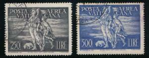 VATICAN C16-17 USED, FAULTS, AIR MAIL
