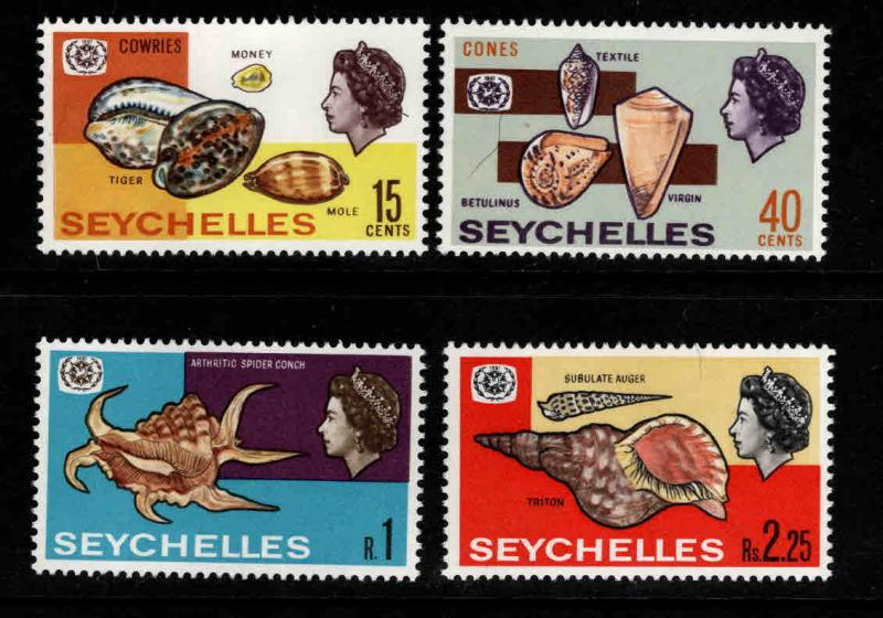 Seychelles Scott 237-240 MNH** shell stamp set