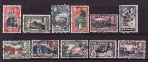D3-Ceylon-Scott#264-74-used KGV set-1935-