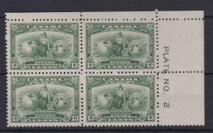 #194 Plate # 2 UR VFMNH CAT $240 *** Canada MINT
