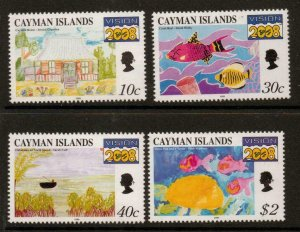 CAYMAN ISLANDS SG888/91 1999 CHILDRENS PAINTINGS  MNH