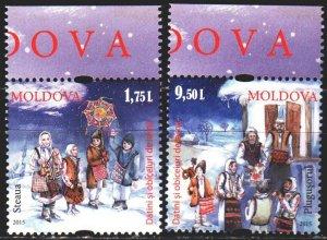 Moldova. 2015. 941-42. Christmas. MNH.