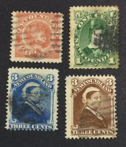 MOMEN: NEWFOUNDLAND #62,63a,65,65a 1896-7 USED £207 LOT #7015