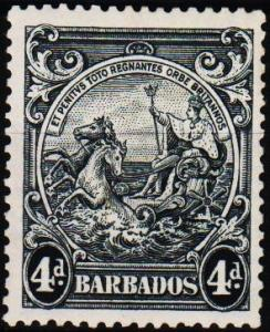 Barbados. 1938 4d S.G.253 Mounted Mint
