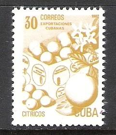 CUBA 2491 MNH CITRUS J987