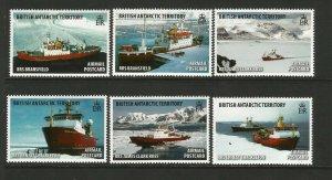 BAT British Antarctic Territory 2017 RRS Research Ships set unmounted mint MNH
