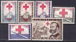 Belgium #B641-6 MNH CV $25.90 (Z8099)