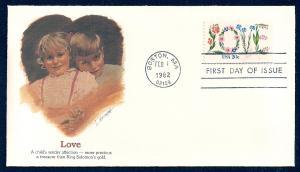 UNITED STATES FDC 20¢ LOVE 1982 Fleetwood