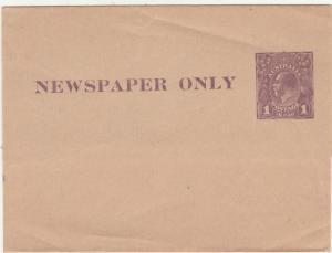 AUSTRALIA 1922 KGV 1D NEWSPAPER WRAPPER