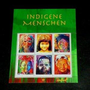 U.N. VIENNA #520, 2012, INDIGENOUS PEOPLE, SHEET OF 6 , MNH,  NICE!! LQQK!!!