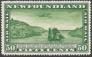 Newfoundland Airmail Stamp Scott Number C7 VF H