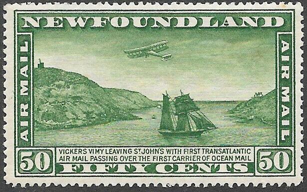 Newfoundland Airmail Stamp Scott Number C7 VF H